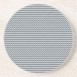 Zigzag - blanco y carbón de leña posavasos personalizados