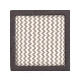 Zigzag - blanco y castor caja de regalo de calidad