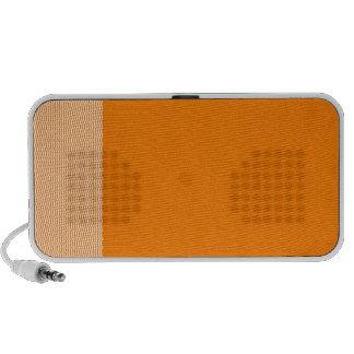 Zigzag - blanco y naranja iPod altavoz