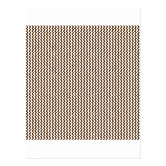 Zigzag - blanco y nariz de Brown Postales