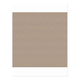 Zigzag - blanco y nariz de Brown Tarjeta Postal