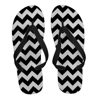 Zigzag blanco y negro chanclas playa