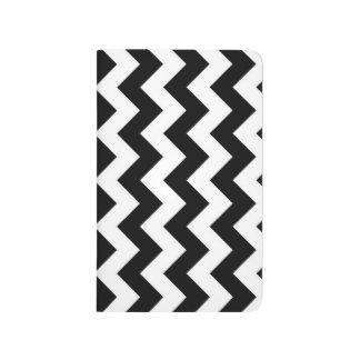 Zigzag blanco y negro cuaderno