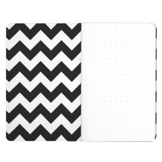 Zigzag blanco y negro cuadernos grapados