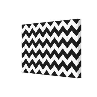 Zigzag blanco y negro impresiones de lienzo