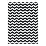 Zigzag blanco y negro invitación 12,7 x 17,8 cm