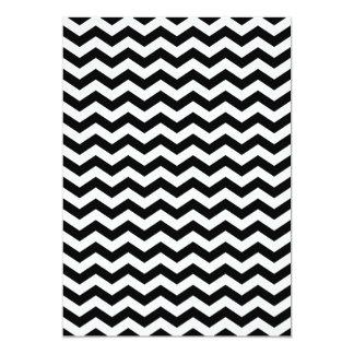 """Zigzag blanco y negro invitación 5"""" x 7"""""""