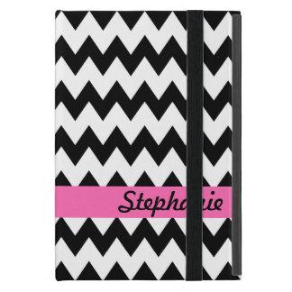 Zigzag blanco y negro personalizado iPad mini carcasa