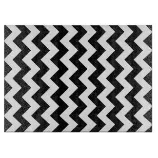 Zigzag blanco y negro tabla para cortar