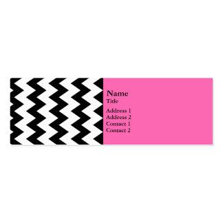 Zigzag blanco y negro plantilla de tarjeta de visita