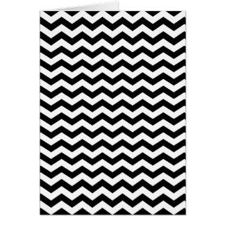 Zigzag blanco y negro tarjeta de felicitación