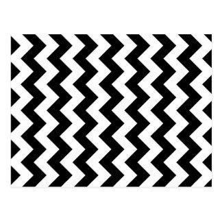 Zigzag blanco y negro tarjeta postal
