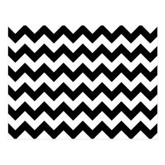 Zigzag blanco y negro postal