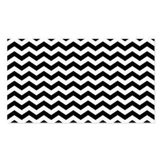 Zigzag blanco y negro tarjetas de visita