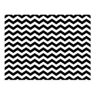 Zigzag blanco y negro tarjetas postales