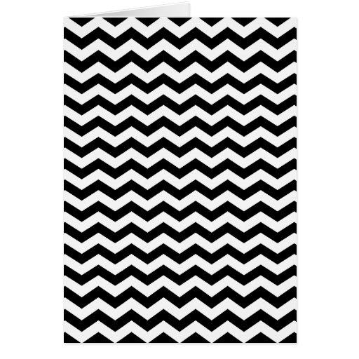 Zigzag blanco y negro tarjetón