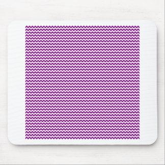 Zigzag - blanco y púrpura alfombrillas de ratón