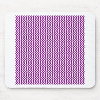 Zigzag - blanco y púrpura alfombrilla de ratón