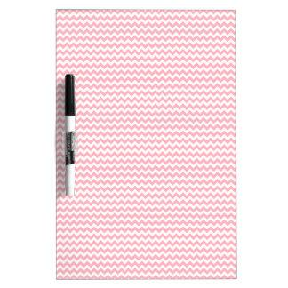 Zigzag - blanco y rosa claro pizarras blancas de calidad