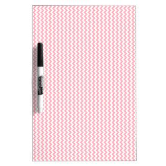 Zigzag - blanco y rosa claro tablero blanco