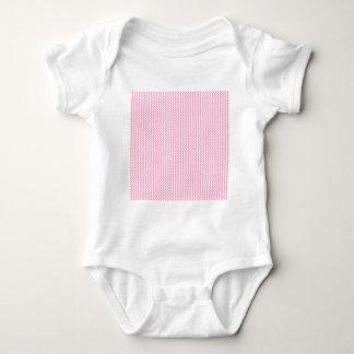 Zigzag - blanco y rosa del clavel playera