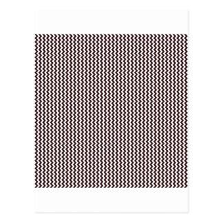 Zigzag - blanco y sello Brown Tarjeta Postal