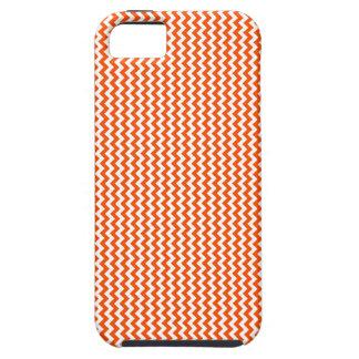 Zigzag - blanco y Tangelo iPhone 5 Case-Mate Cárcasa