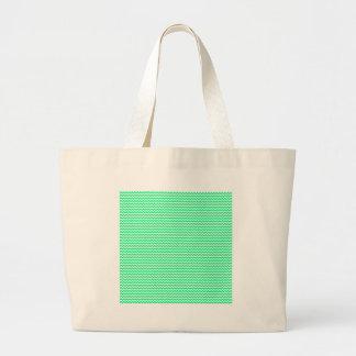 Zigzag - blanco y verde de la primavera bolsas lienzo