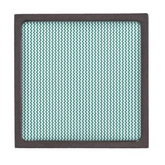 Zigzag - blanco y verde del Celadon Caja De Regalo De Calidad