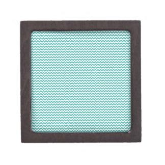 Zigzag - blanco y verdete caja de joyas de calidad