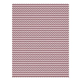 Zigzag - blanco y vino plantilla de membrete