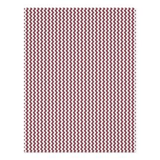 Zigzag - blanco y vino membretes personalizados