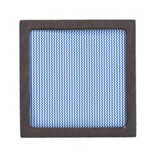 Zigzag - blanco y zafiro cajas de recuerdo de calidad