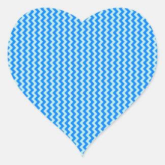 Zigzag - Blizzard Blue and Azure Heart Sticker