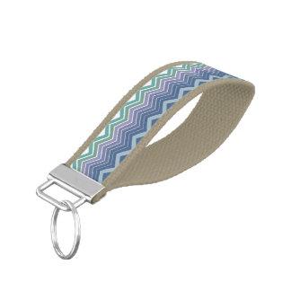ZigZag Blue, Green & Purple Wrist Band Key Chain