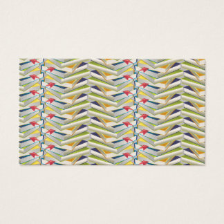 ZigZag Book Stacks Business Card
