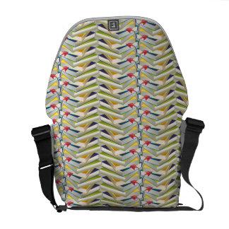 ZigZag Book Stacks Courier Bag