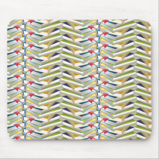 ZigZag Book Stacks Mouse Pad