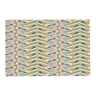 ZigZag Book Stacks Placemat