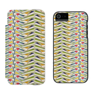 ZigZag Book Stacks Wallet Case For iPhone SE/5/5s