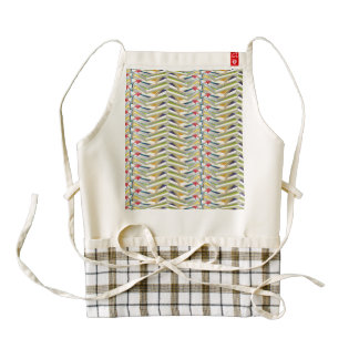 ZigZag Book Stacks Zazzle HEART Apron