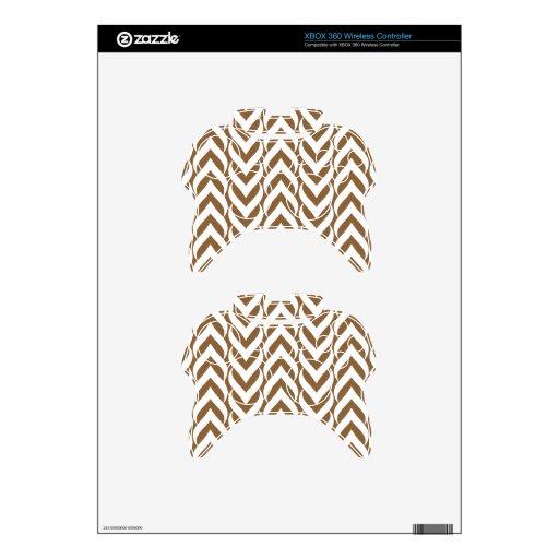 Zigzag Brown de Chevron Mando Xbox 360 Calcomanía