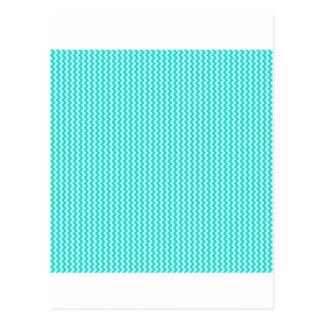 Zigzag - Celeste and Turquoise Postcard