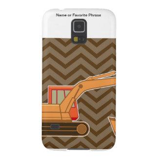 Zigzag Chevron - Brown de la retroexcavadora del t Fundas Para Galaxy S5