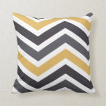 ZigZag Chevron Gold And Gray Pillows