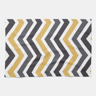 ZigZag Chevron Gold And Gray Towels