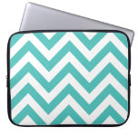 Zigzag Chevron Pattern in light blue Laptop Computer Sleeves