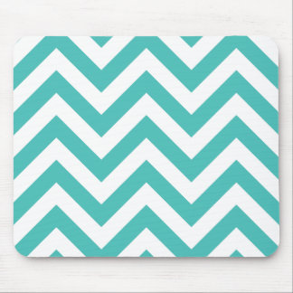 Zigzag Chevron Pattern in light blue Mouse Pad