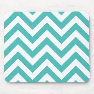 Zigzag Chevron Pattern in light blue Mousepad