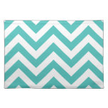 Zigzag Chevron Pattern in light blue Cloth Placemat